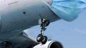 Vermummtes Flugzeug